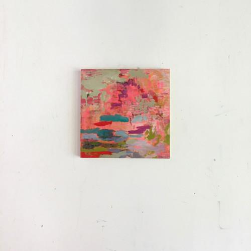 Japanese garden | 20 cm x 20 cm x 1.5 cm | Oil, acrylic and pencil on board