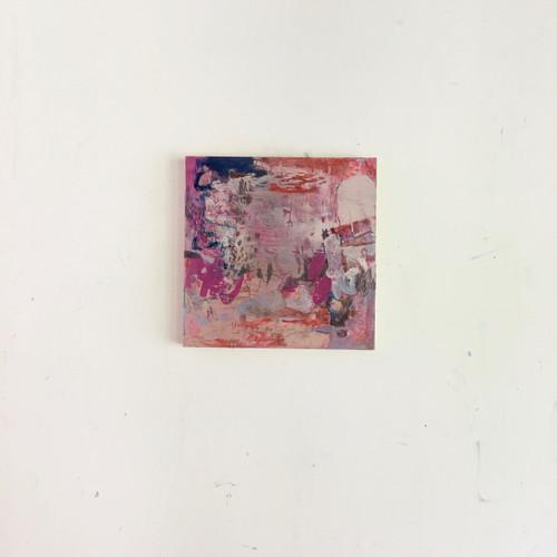 beware falling rocks | 20 cm x 20 cm x 1.5 cm | Oil, acrylic and pencil on board