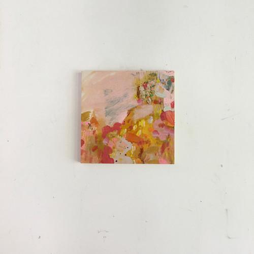 lyrics | 20 cm x 20 cm x 1.5 cm | Oil, acrylic and pencil on board