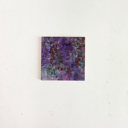 blue moon | 20 cm x 20 cm x 1.5 cm | Oil, acrylic and pencil on board