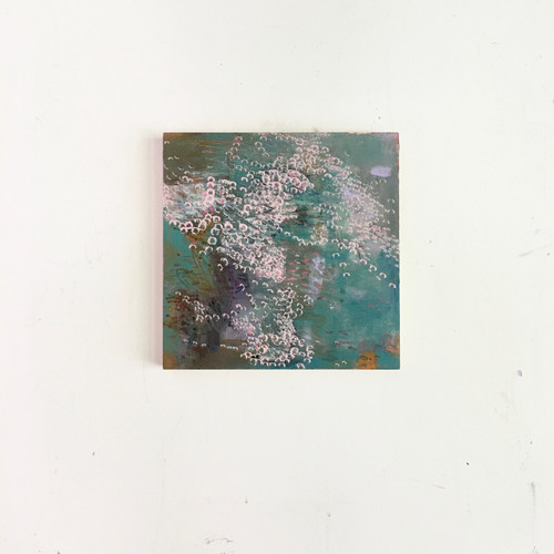 undertow | 20 cm x 20 cm x 1.5 cm | Oil, acrylic and pencil on board