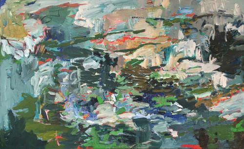 Spring Flow | Oil and acrylic | Framed | 58 cm x 92 cm
