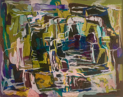 Kate Barry Artist | Obstacles | 43 cm x 54 cm | Framed | Oil and acrylic on board