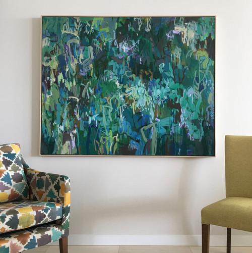 Jacaranda Sunlight | 126 cm x 155 cm | Framed | Oil on canvas COMMISSION
