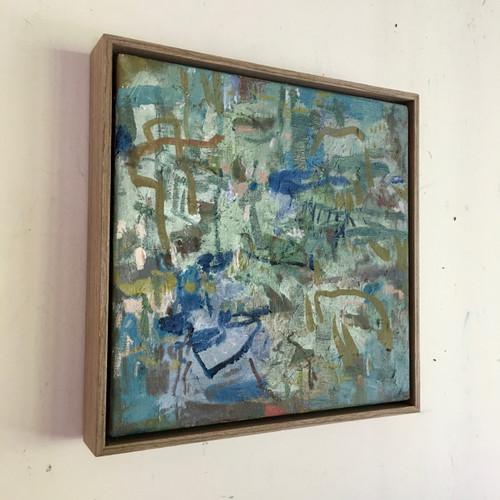 Hidden | 34 cm x 34 cm | Framed | Oil on linen
