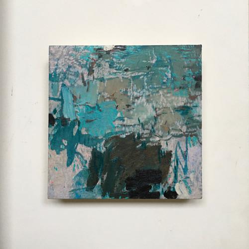 Rock Pool  | 20 cm x 20 cm x 3 cm | Oil, acrylic and pencil on board