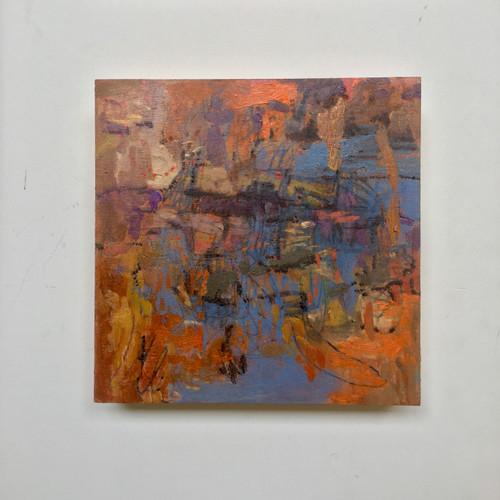 Burning Bright | 20 cm x 20 cm x 3 cm | Oil, acrylic and pencil on board