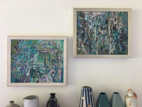 Back Yard 1 and 2   28 cm x 33 cm   Framed   Oil on canvas