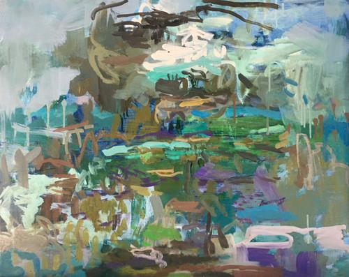 Glimpse   63 cm x 80 cm   Framed   Oil on board