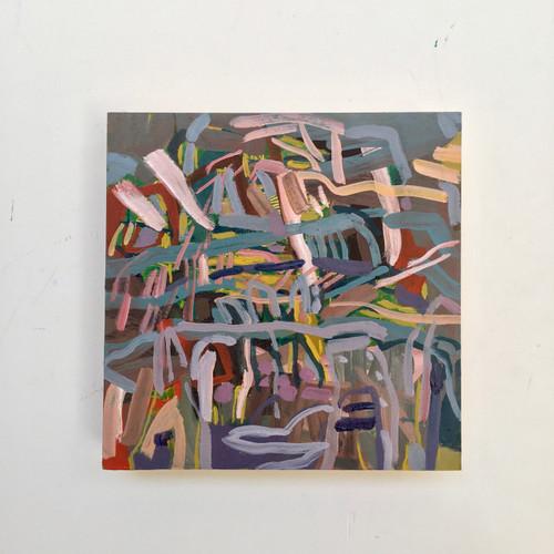 Hidden Fragments | 20 cm x 20 cm x 3 cm | Oil on board