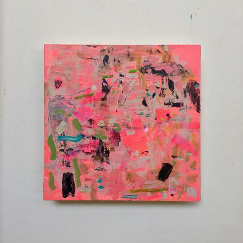 Flutterbye | 20 cm x 20 cm x 3 cm | Acrylic and oil on board