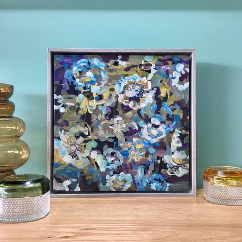 Dusk  Flowers | 30 cm x 30 cm  | Framed | Oil on board