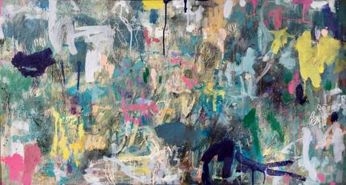 Kate Barry Artist | Wind Blossom | 51 cm x 90 cm | Framed | Oil and acrylic on linen