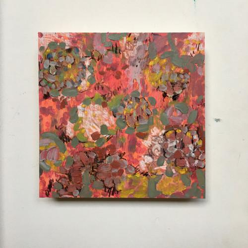Fire Flowers  | 20 cm x 20 cm x 3.5 cm | Oil on board