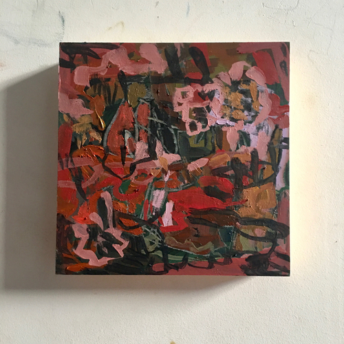 Cordelia | 20 cm x 20 cm x 3.5 cm | Oil and acrylic on board