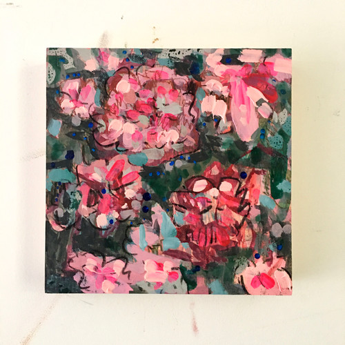 Apple Blossom | 20 cm x 20 cm x 3.5 cm | Oil and acrylic on board