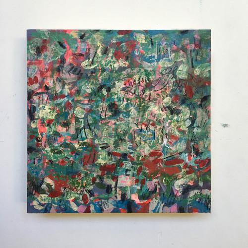 Primrose   20 cm x 20 cm x 3.5 cm   Oil on board