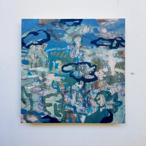 Clouds | 20 cm x 20 cm x 3.5 cm | Oil on board