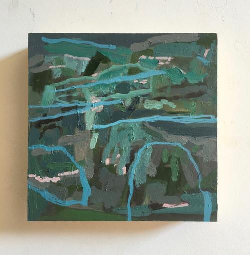 Pastures | 20 cm x 20 cm x 3.5 cm | Oil on board