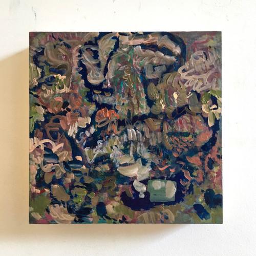 Coral Magic | 20 cm x 20 cm x 3.5 cm | Oil on board