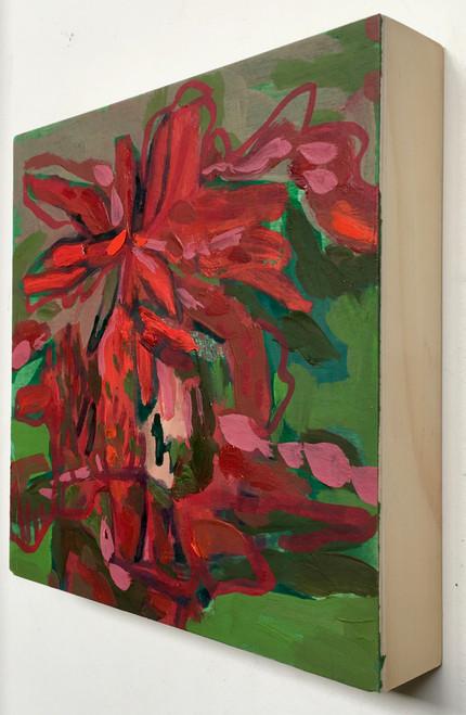 Fire Flower | 20 cm x 20 cm x 3.5 cm | Oil on board