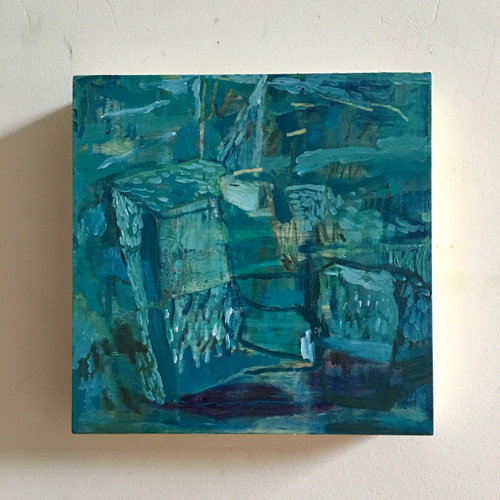In Together | 20 cm x 20 cm x 3.5 cm | Oil on board