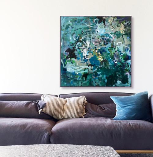 Colliding Breeze | 93 cm x 93 cm | Framed | Oil on board