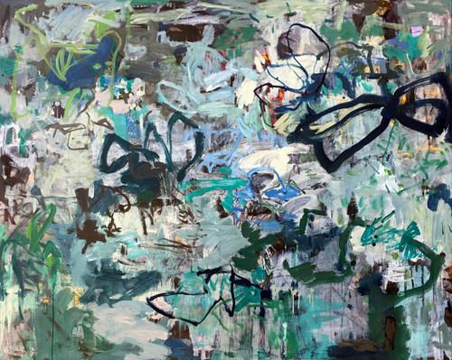 Garland Veil | 125 cm x 155 cm | Framed | Ink, acrylic and oil on canvas
