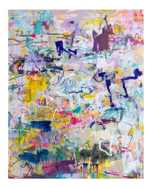 Hoodlums | 155 cm x 125 cm | Framed | Ink, acrylic and oil on canvas
