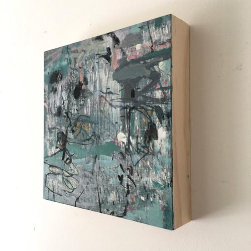 Concrete | 20 cm x 20 cm x 3 cm | Oil on board