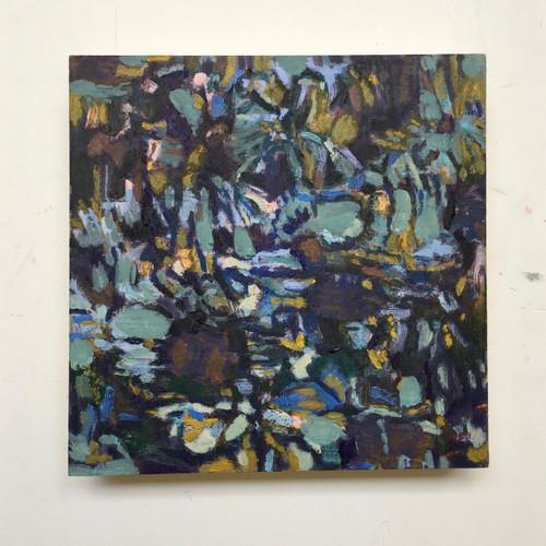 Flower Tangle   20 cm x 20 cm x 3.5 cm   Oil on board