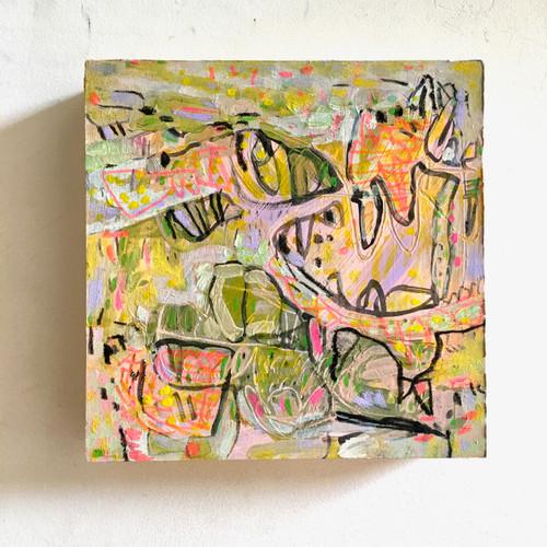 Big Mouth | 20 cm x 20 cm x 3 cm | Oil on board