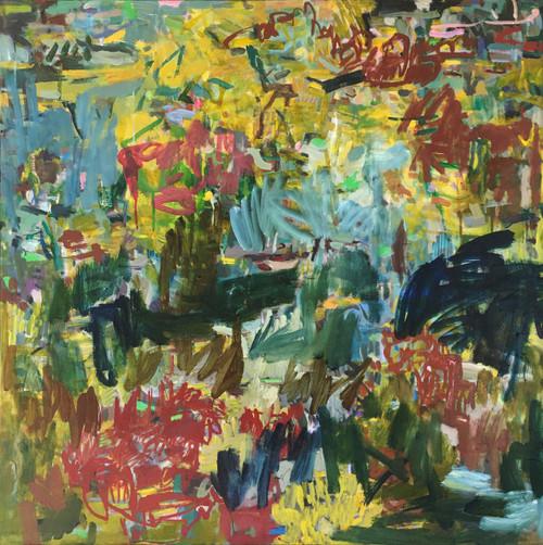 Bush Remnants in Sun | 95 cm x 95 cm | Framed | Oil on linen