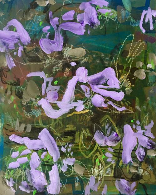 Jacaranda Carpet | 25 cm x 20 cm x 3.5 cm | Oil on board