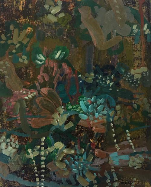 Velvet | 25 cm x 20 cm x 3.5 cm | Oil on board