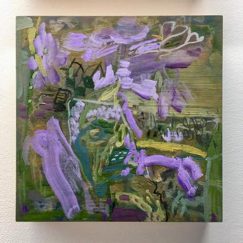 Jacarandas | 20 cm x 20 cm x 3.5 cm | Oil on board