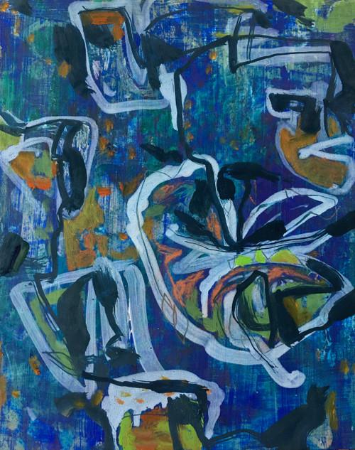 Mid Pause | 25 cm x 20 cm x 3.5 cm | Oil on board
