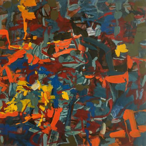 Paprika | 25 cm x 25 cm x 3.5 cm | Oil on board