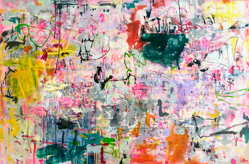 Rendezvous | 124 cm x 185 cm | Framed | Acrylic, Ink and Oil on canvas