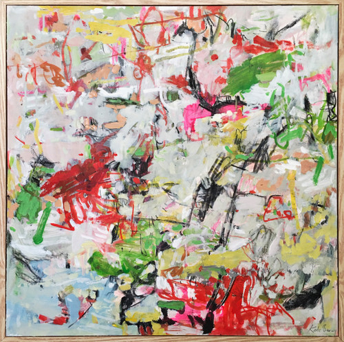 Jump | 60 cm x 60 cm | Framed | Mixed on canvas
