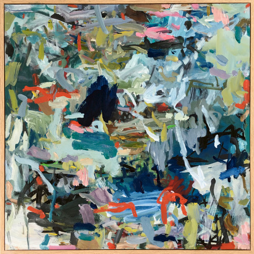 Crossfire | 60 cm x 60 cm | Framed | Oil on canvas