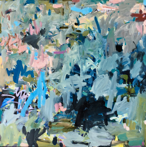 Coastal Break | 54 cm x 54 cm | Framed | Oil on canvas