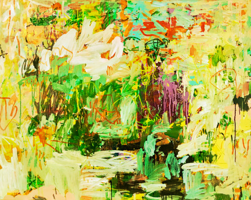 Yellow Divide | Framed Fine Art Giclée Print on canvas or paper