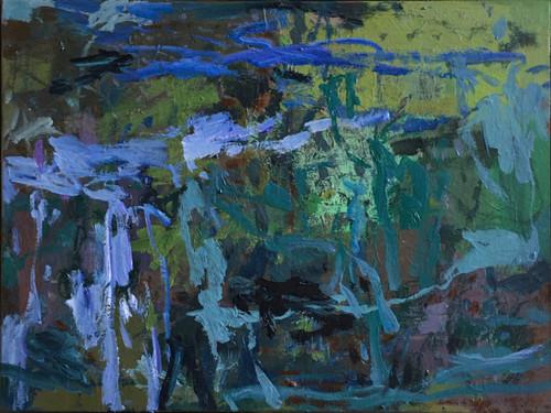 August's Fragments | 47 cm x 63 cm | Framed | Oil on canvas