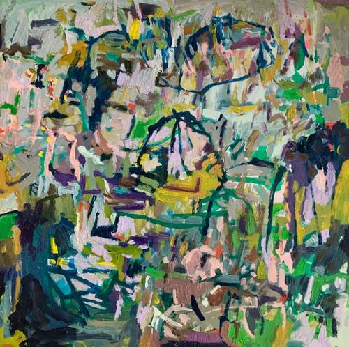 Bay Life | 30.5 cm x 30.5 cm x 3.5 cm | Oil on timber block