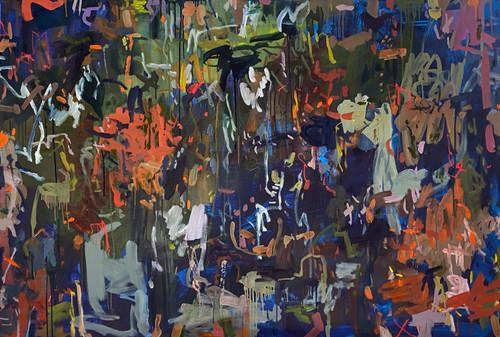 Autumn Curtains | 124 cm x 185 cm | Framed |  Oil and acrylic on canvas