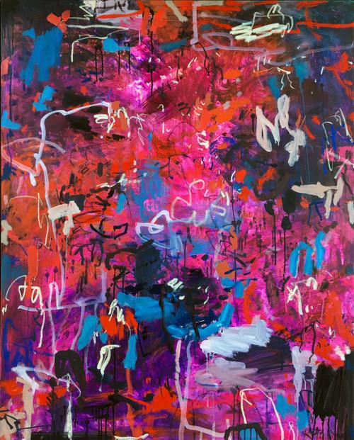 Ebullience | 155 cm x 125 cm | Framed | Oil and acrylic on canvas