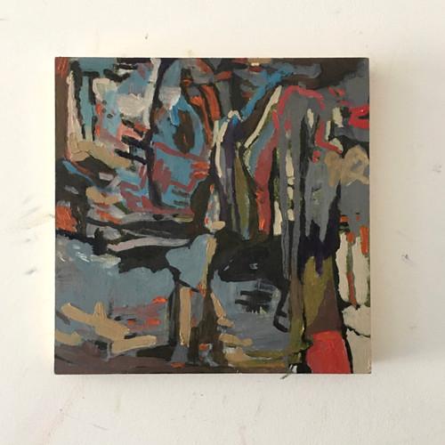 Dirt Riddles | 20 cm x 20 cm x 1.5 cm | Oil on board