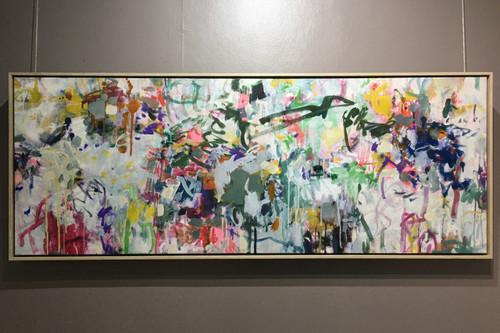 Florescence  | 47 cm x 120 cm | Framed | Acrylic and oil  on canvas