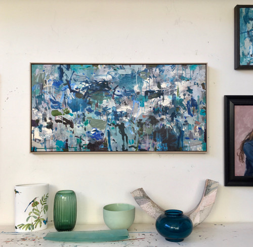 Swept Away  | 64 cm x 125 cm | Framed | Acrylic and oil  on board
